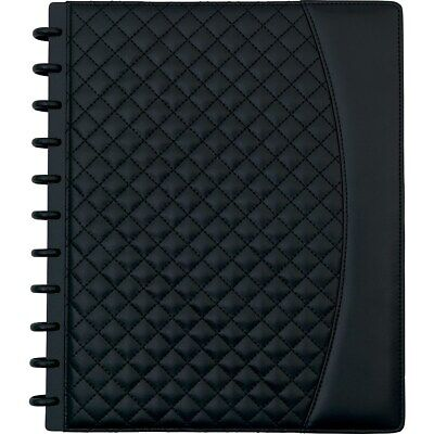 Staples Arc System Customizable Quilted Pu Leather Notebook System Black 1739610