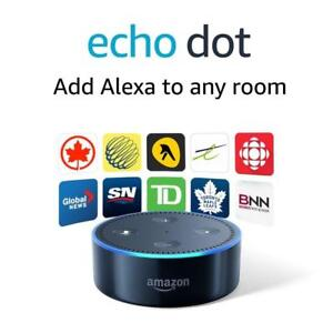 NEW Echo Dot (2nd Generation) - Smart speaker with Alexa - Black