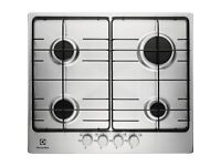 Brand New Electrolux EGG6242NOX Stainless Steel Gas Hob, 4 burners, 60cm, Auto Ignition