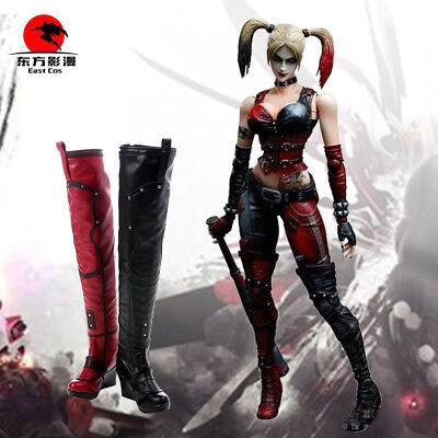 Batman Arkham City Harley Quinn Cosplay Leather Boots Shoes Custom Made ](Harley Quinn Arkham City Cosplay)