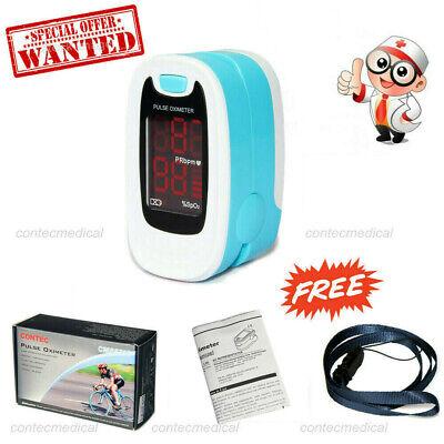 Led Finger Tip Pulse Oximeter Blood Oxygen Meter Spo2 Heart Rate Patient Monitor