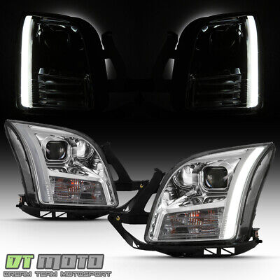 2006-2009 Ford Fusion LED Light Tube Projector Headlights Headlamps Left+Right