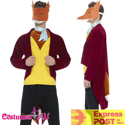 Licensed Mens Fantastic Mr Fox Roald Dahl Costume World Book Week Fancy Dress Up