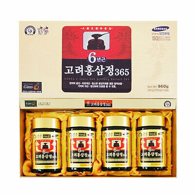 [DHL Express] Korean 6 Years Red Ginseng Extract 365, Saponin,Panax 240g x 4ea