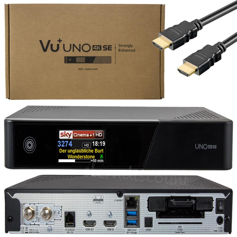 VU+ UNO SE 4K SAT 2x DVB-S2 FBC Twin Tuner PVR Linux Receiver UHD 2160p E2 IPTV