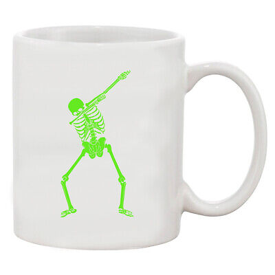 Dabbing Skeleton Halloween Funny Humor Costume White Coffee 11 Oz Mug