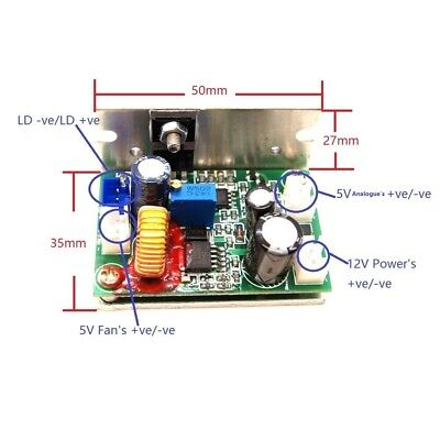 Analogue Laser Diode Driveradjustable Current Output 50ma---3000ma