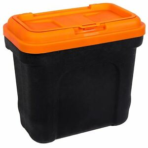 Pet Food Storage Container Animal Dry Cat Dog Bird Food Box Bin Black Orange