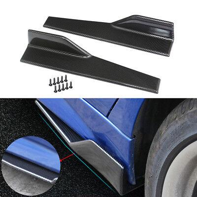 (Black Car Carbon Fiber Side Skirt Rocker Splitters Winglet Wings Diffuser Canard)