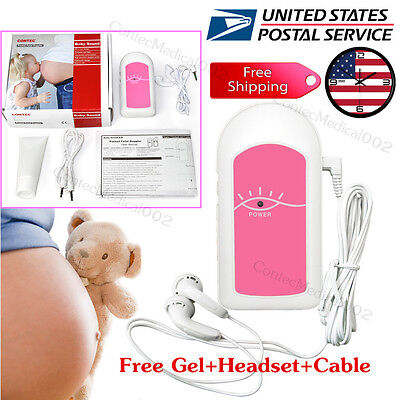 Baby Sound A Fetal Doppler Prenatal Heart Monitor Baby Sound Detector Gel
