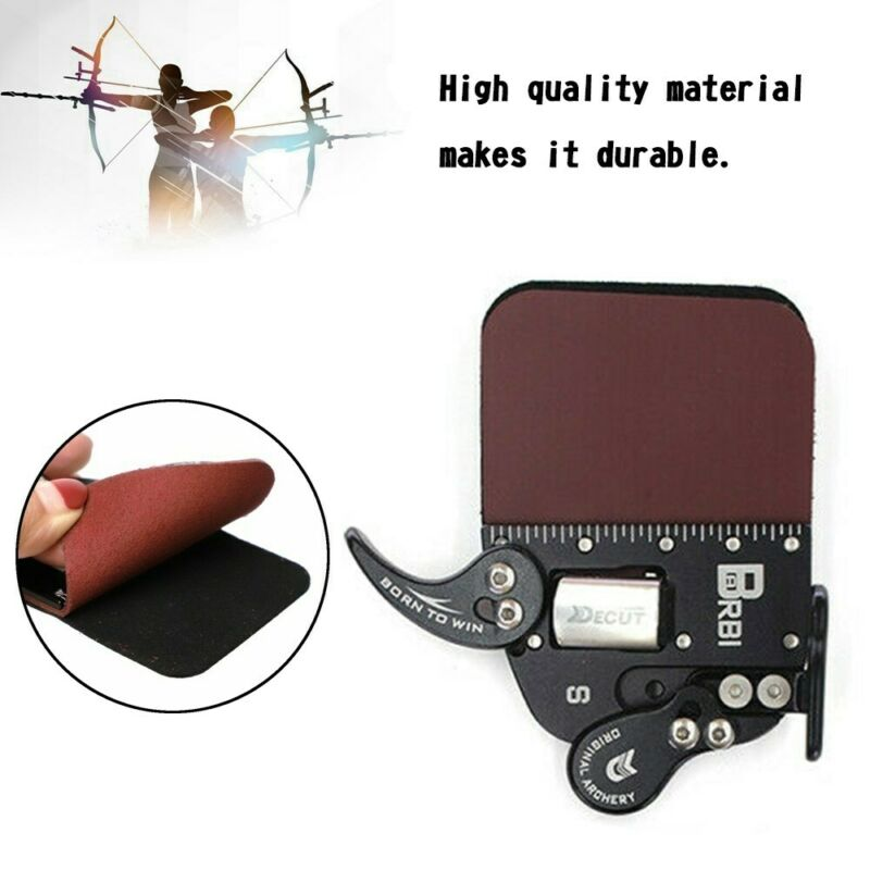 Leather Finger Guard Finger Tab Protection Pad Glove Tab Bow Archery Protector D