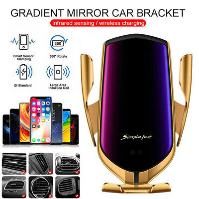 360° Automatic Wireless Car Charging Charger Phone Holder For Samsung S20 S10+