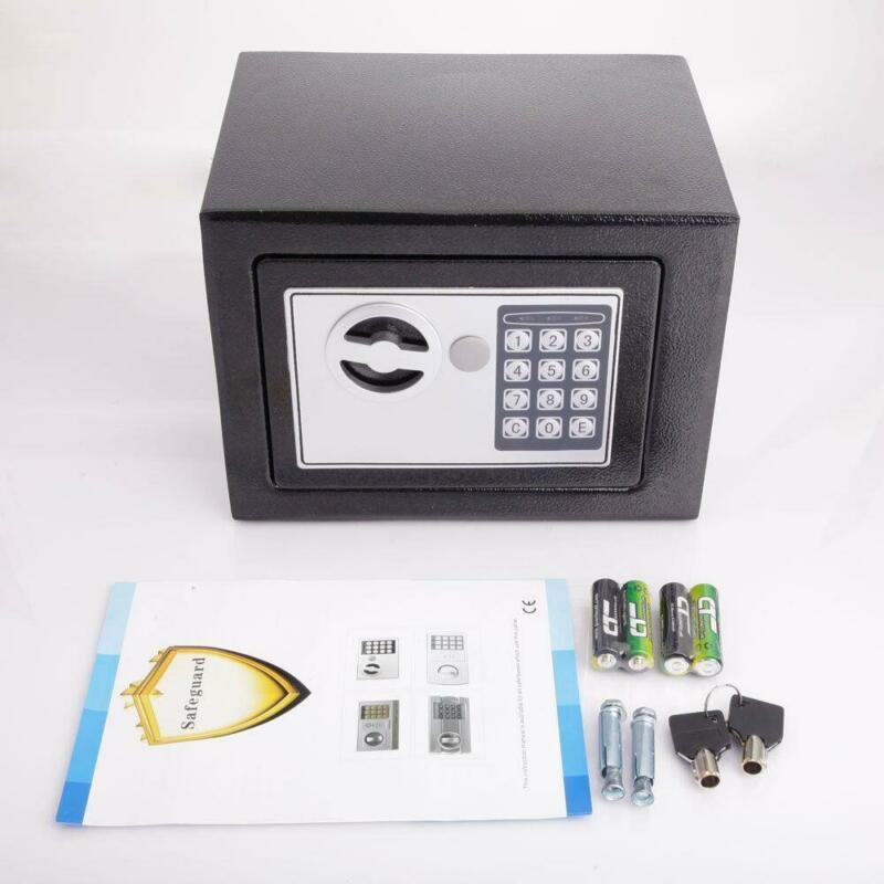 Small Electronic Durable Digital Safe Box Keypad Lock Home Office Hotel Black