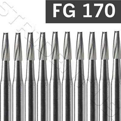 Dental Carbide Burs Fg 170 Taper Flat End Fissure 10pack