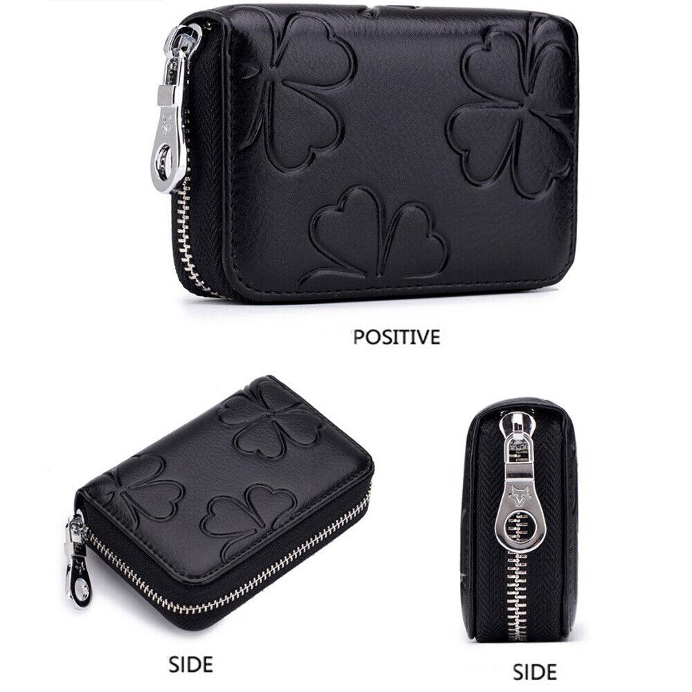 RFID Blocking Women Card Holder Wallet Leather Clutch Purse Zipper Handbag US Clothing, Shoes & Accessories