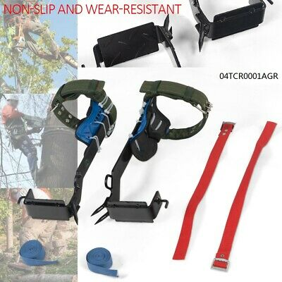 2-gear Tree Climbing Spike Set Safety Belt Lanyard Rope Adjustable Rescue Belt