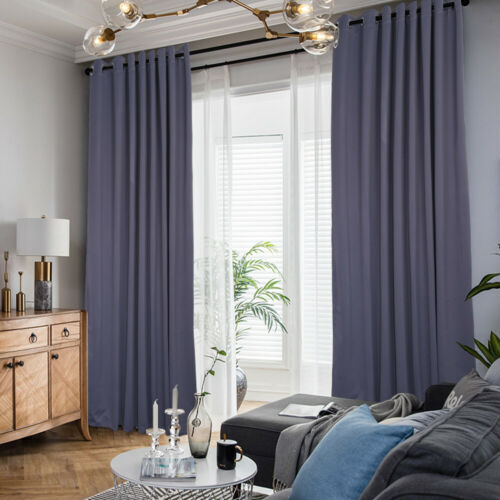 Polyester Blackout  Blind Window Thermal Insulate Curtain Dr