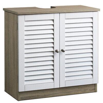 Mueble bajo lavabo armario de baño almacenaje con 2 puertas 60x30x60cm toallas