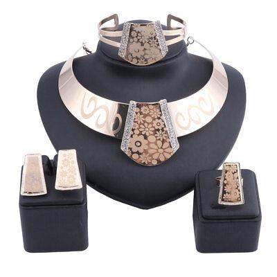 Women Costume African Dubai Gold Brand Nigerian Bridal Bead Wedding Jewelry Set - Costume Wedding Jewelry
