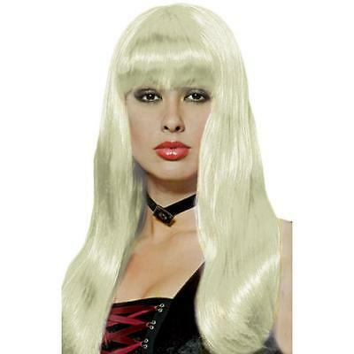 INCOGNITO IVORY Womens VAMP Long Platinum Halloween WIG PARTY COSTUME WIG - Long Platinum Blonde Halloween Wig