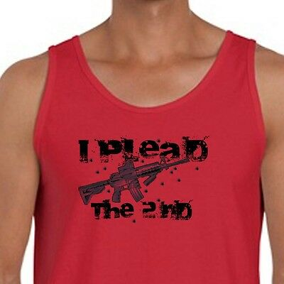 I PLEAD THE 2ND Conceal Carry NRA T-shirt Right To Bear Arms Men's Tank Top American Apparel Carry On