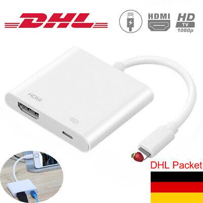 Lightning to HDMI Digital AV TV Cable Adapter Kabel für iPad & i Phone 7 8 X DE