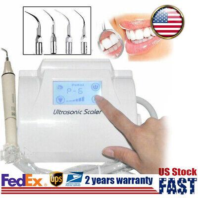 Dental Ultrasonic Piezo Scaler Lcd Touch Screen 4detachable Handpiece Fit Ems