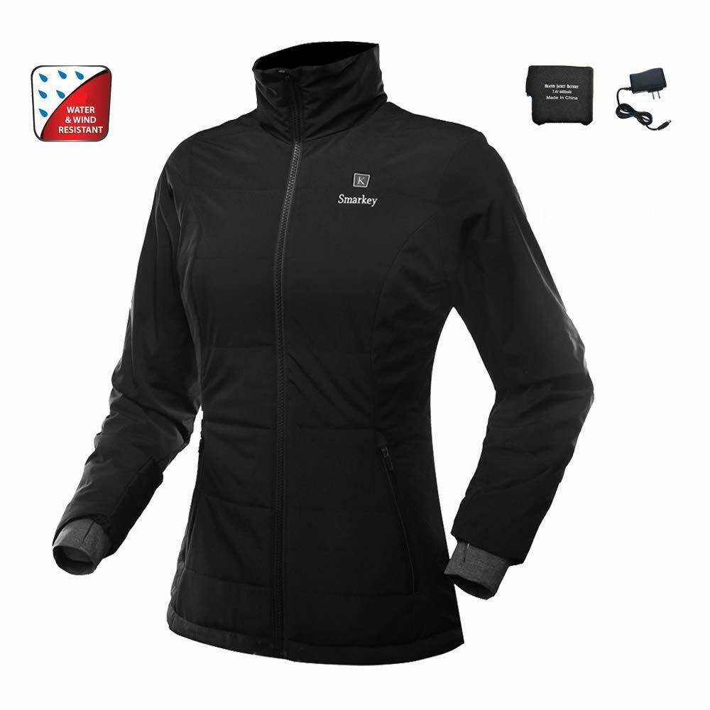 Smarkey Heated Jacket For Women With 1pcs 4400mAh Battery&Ch