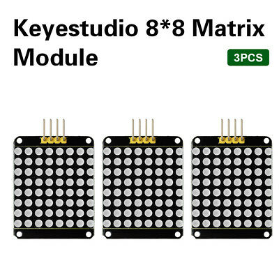 3pcs Keyestudio Max7219 Led 8x8 Dot Matrix Display Module For Arduino Sz