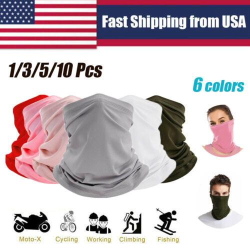 Balaclava Neck Tube Scarf Bandana Face Cover Mask Neck Gaiter Headwear Outdoor Clothing, Shoes & Accessories