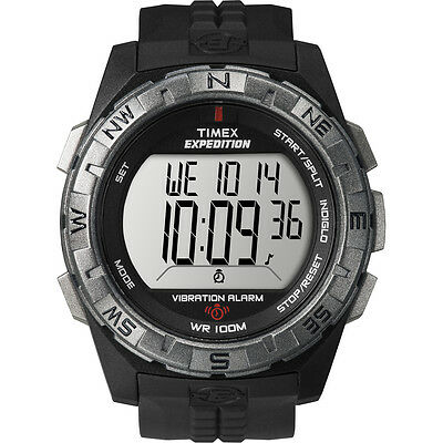 "Timex T49851, Men's ""Expedition Vibrating Alarm"" Indiglo Watch, T498519J"