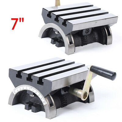 7x5 Tilting Work Table Adjustable Swivel Angle Plate For Cnc Milling Machine