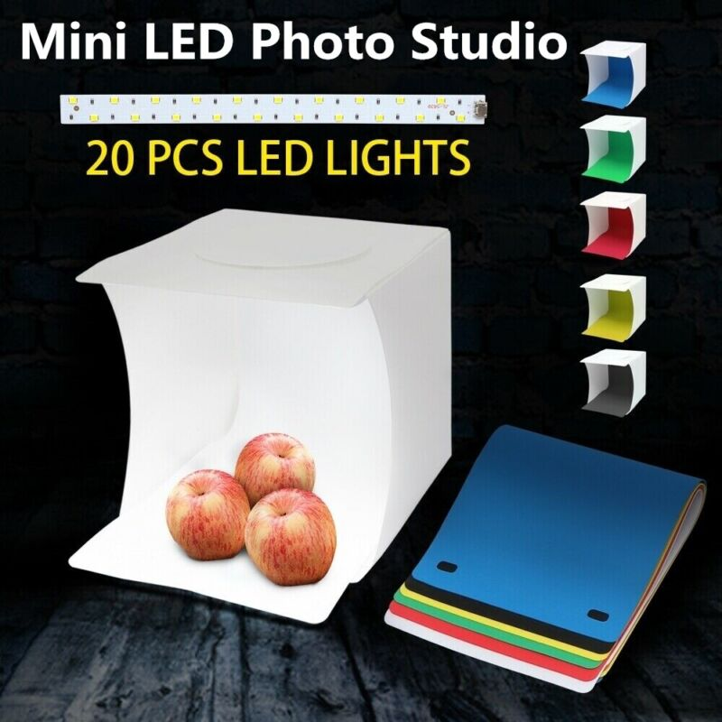 Light Room Photo Studio Photography Lighting Tent Kit Cube Mini Box +6X Backdrop