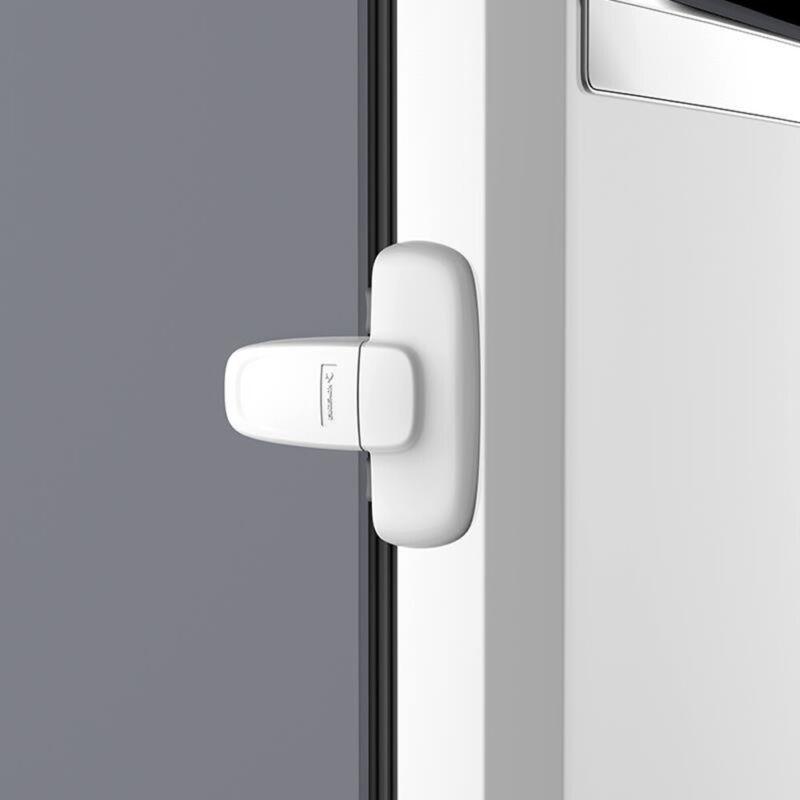 Black 2 Packs Self-Adhesive Fridge Lock with keys Childproof Freezer Lock Cabinet Locks with Rustproof Straps Strong Adhesive and Screws Refrigerator Lock