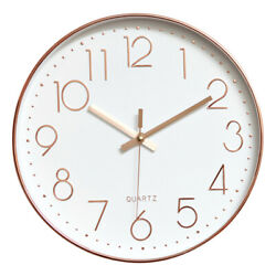 12 Modern Wall Clock Silent  Living Room Home Office Hanging Decor Easy to Read