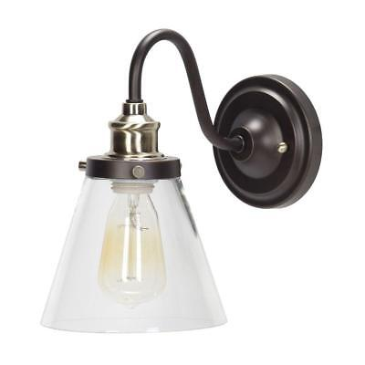 Globe Jackson Vintage Industrial Wall Sconce Bronze & Antique Brass 64932 ()