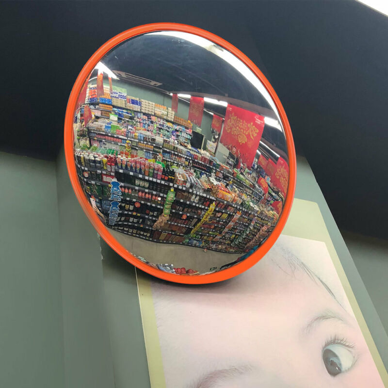 """18"""" Traffic Convex Mirror Safety Wide Angle Driveway Road Outdoor Security PC"""