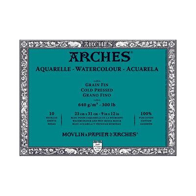 Arches Block 300Lb Cold Press 9X12 (300 Lb Cold Press)