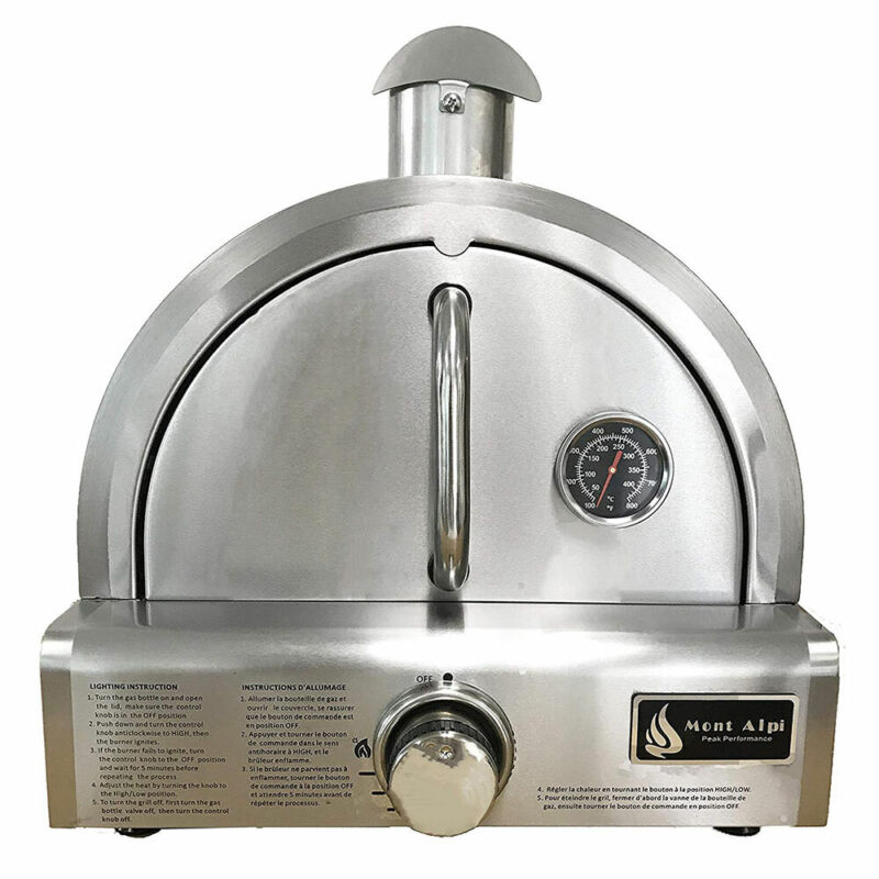 Mont Alpi MAPZ Table Top Gas Stainless Steel Large Pizza Oven Cooker (Open Box)