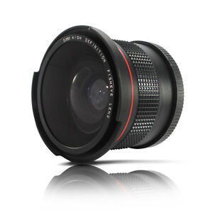 0.35x Super Fisheye Wide Angle Lens for 58 MM Canon Rebel T3i T3 T2i T1i 18-55mm