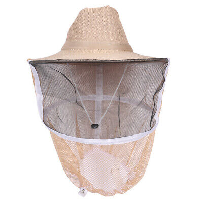 Beekeeping Beekeeper Cowboy Hat Natural Cotton Mosquito Bee Insect Net Face Hat