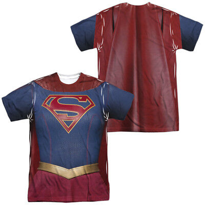 Justice League Movie SUPERGIRL UNIFORM Costume 2-Sided Big Print Poly T-Shirt