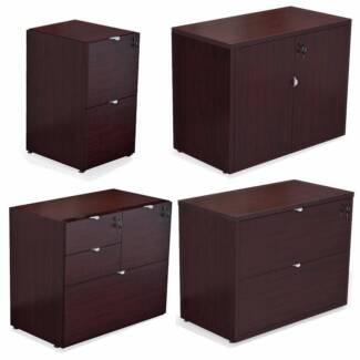 Brand new flat pack 2-drawer file/2-door storage/multi-drawer