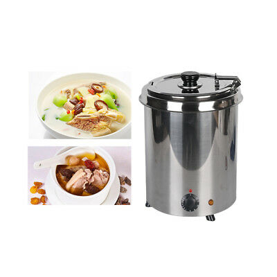 5.7l Commercial Stainless Steel Electric Soup Kettle Wet Heat Buffet Restaurant