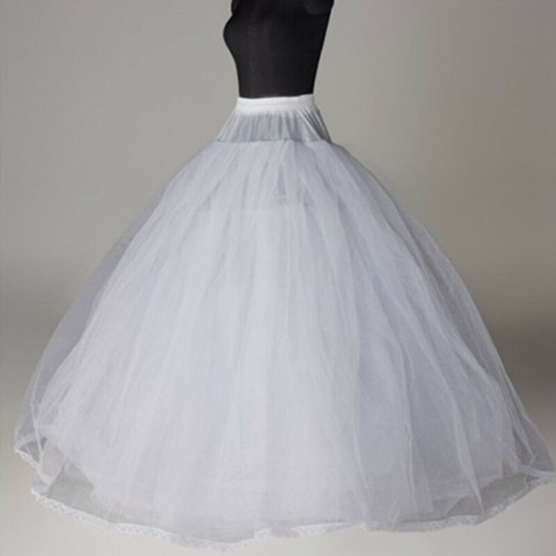 8 Layer Petticoat Skirt Crinoline Hoopless Underskirt for Bridal Wedding Dress