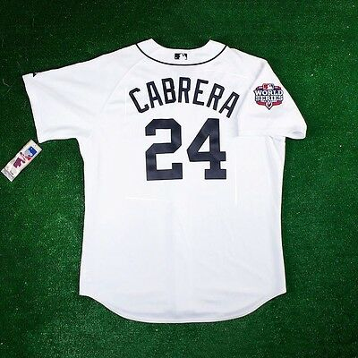 Miguel Cabrera Home Jersey - Miguel Cabrera Detroit Tigers Authentic 2012 World Series Home White Jersey