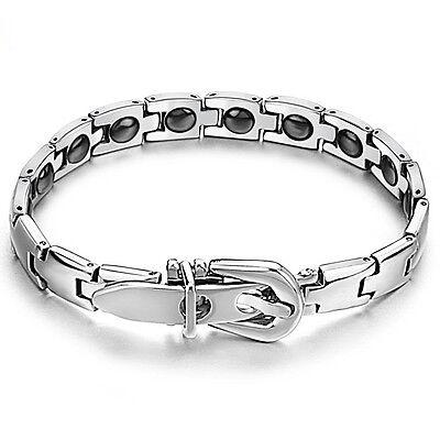 Women Ladies Titanium Health Magnetic Therapy Germanium Bracelet Bangle Gift