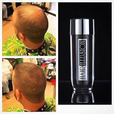 Brown Hair Fibers by HAIR ILLUSION - Organic Hair Regain Bald Spot Men, Women for sale  Shipping to India