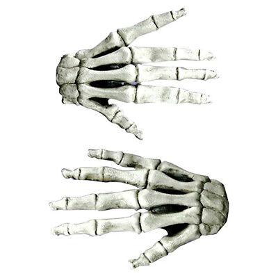 Skelett Knochen Death Reaper Weiß Hände Adult Halloween Kostüm Latex - Adult Kostüm Skelett