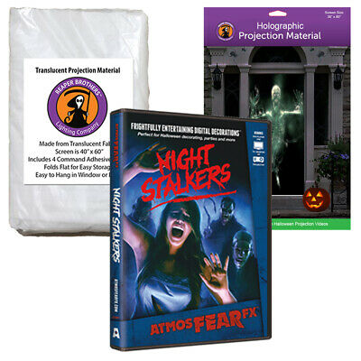 AtmosFearFX Night Stalkers Halloween DVD + 2 Rear Projection Screens (RD)